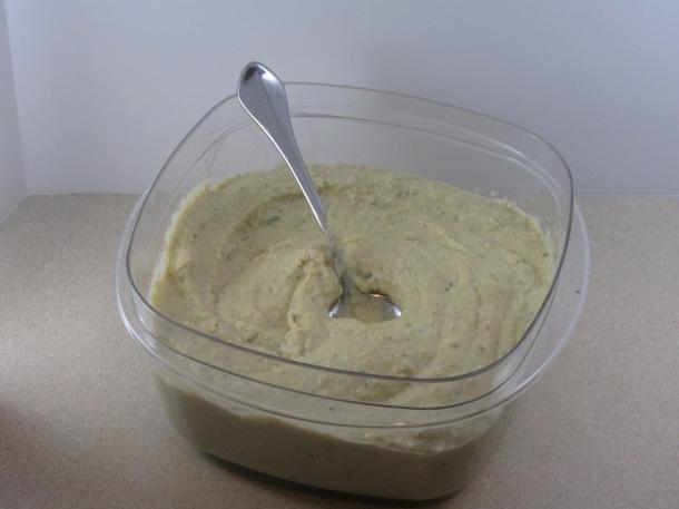 hummus in tupperware