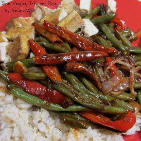Sweet & Sour Veggies, Tofu and Rice