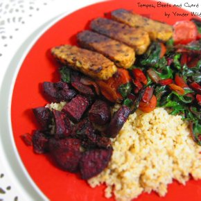 Tempeh, Beets and Chard with Bulgar