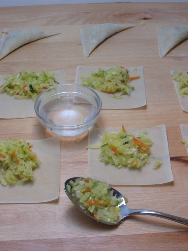 add veggies to wonton