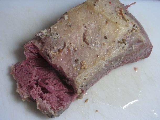 slice the corned beef