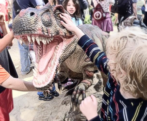 Dinosaur Petting Zoo with robotic movements!