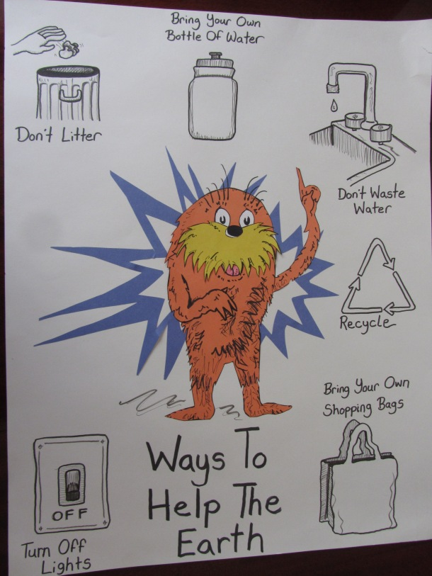 Ways to help the Earth poster