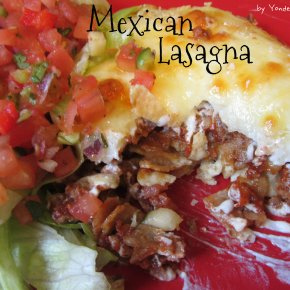 Mexican Lasagna Two Ways – with meat or vegetarian
