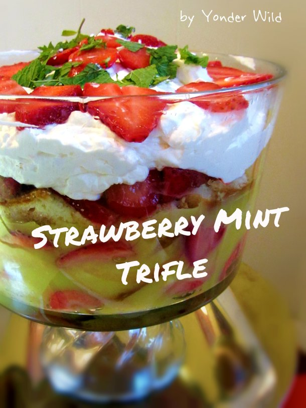 Strawberry Mint Trifle