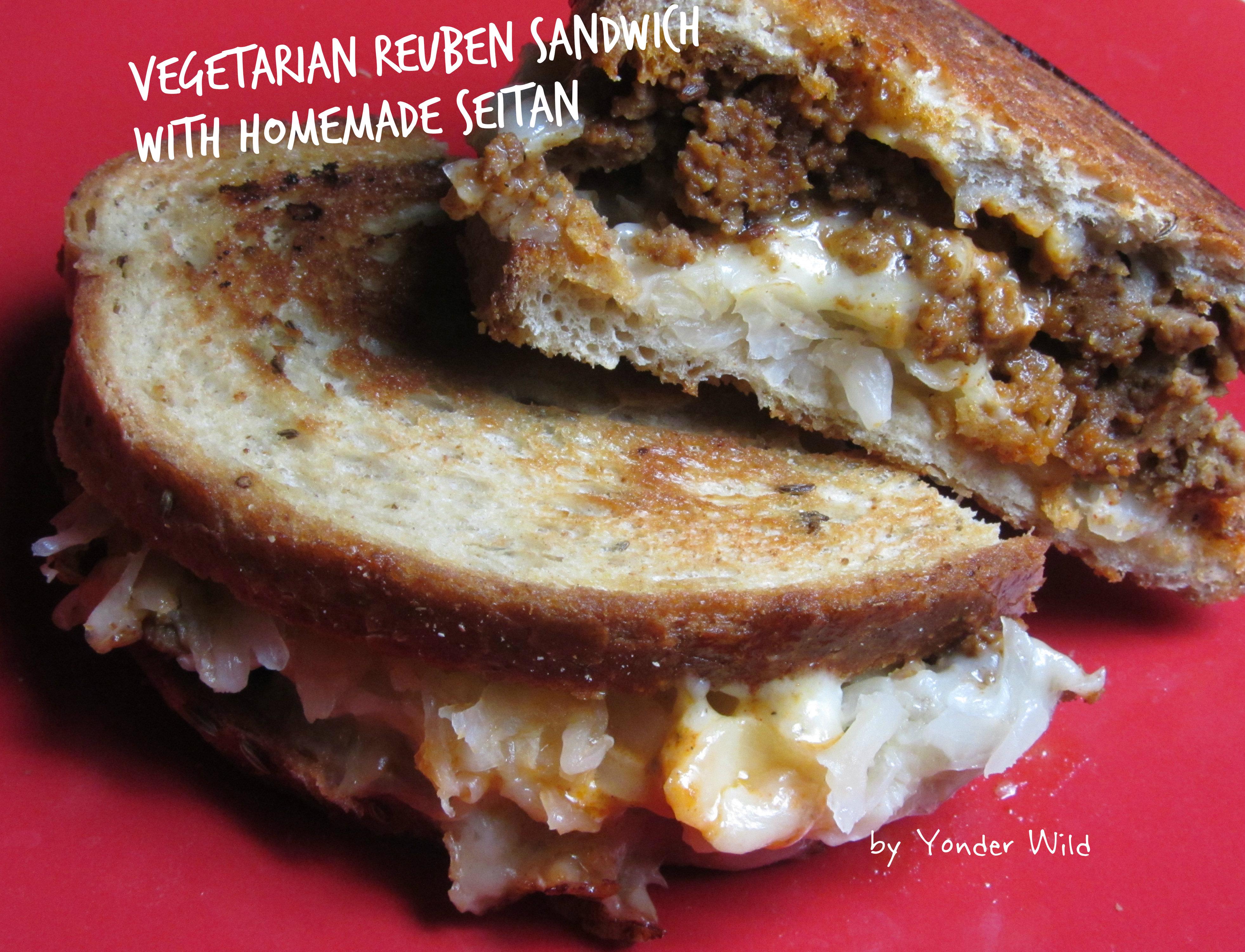 Vegetarian Reuben Sandwiches with Homemade Seitan | Yonder Wild