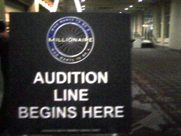 millionaire audition line