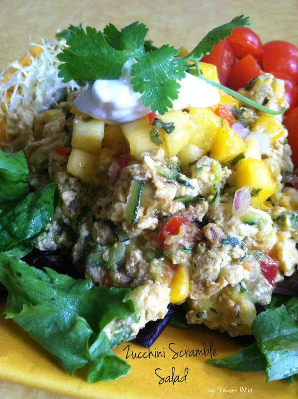 Zucchini Scramble Salad