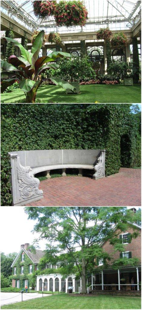 Conservatory, Whispering Bench, Historic du Pont Home