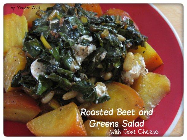 Roasted Beet and Greens Salad