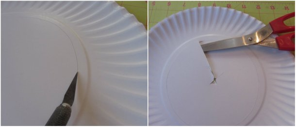 cut out the center of the plate