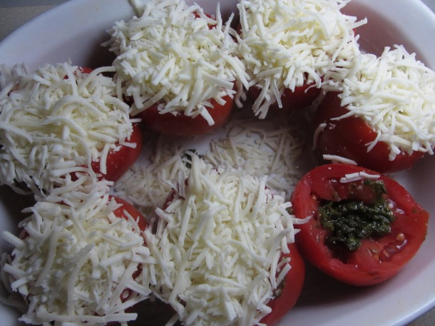 Add cheese to the tomatoes