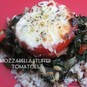 Mozzarella Stuffed Tomatoes