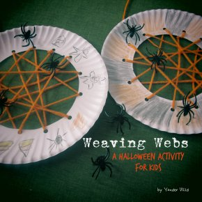 Weaving Webs – a Halloween Activity for Kids