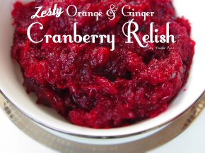 Zesty Orange & Ginger Cranberry Relish