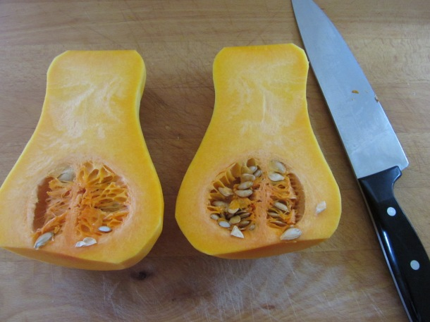cut squash lengthwise