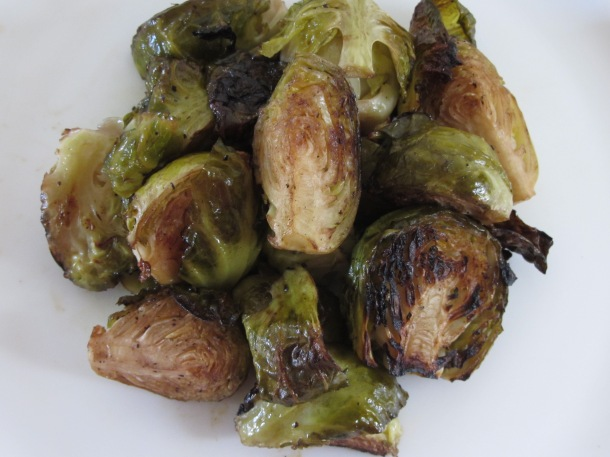 roasted brussel sprouts up close