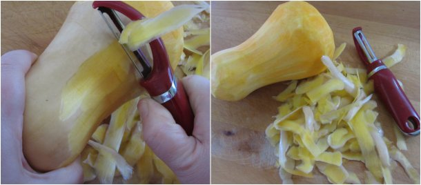 peel squash vertically