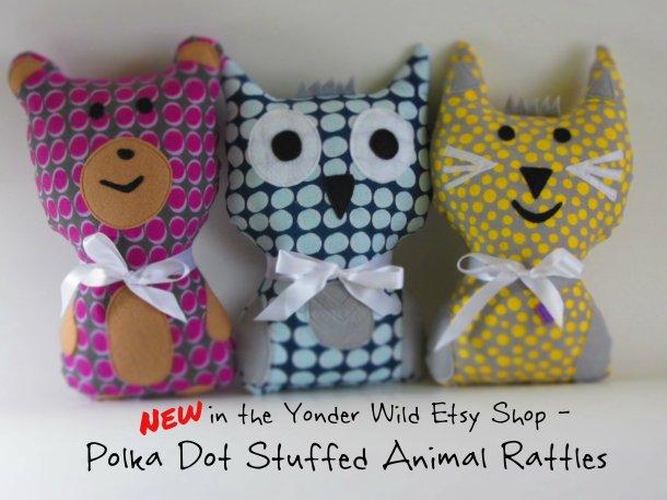 Polka Dot Stuffed Animals
