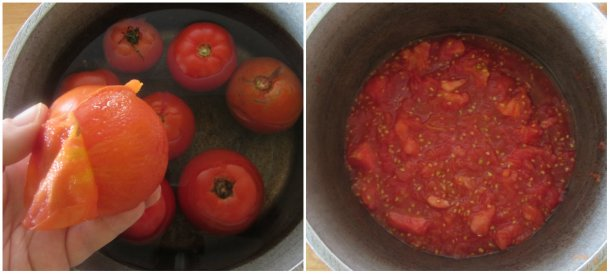 skin the tomatoes